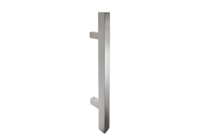 Pochwyt drzwiowy jednostronny L-300/90 stal nierdzewna kwadratowy bez śrub łączących uchwyt