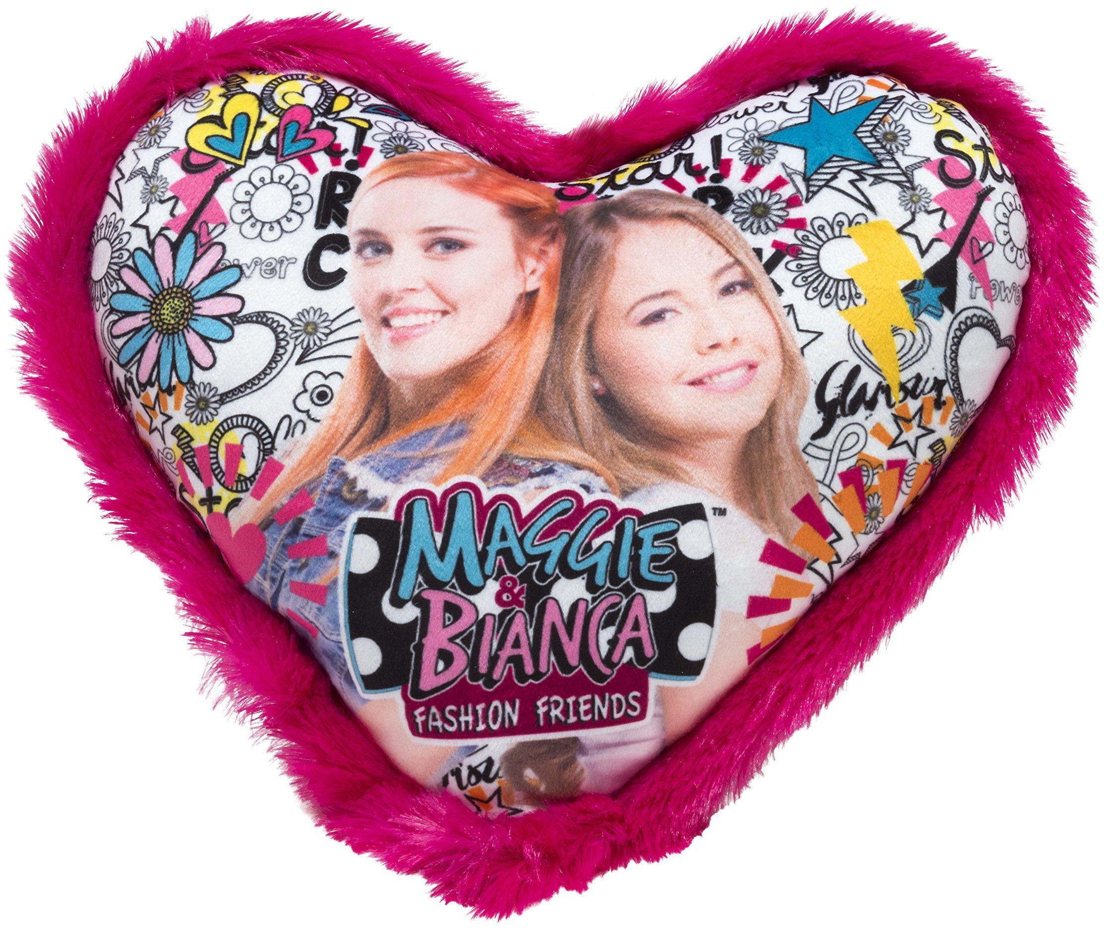 Joy Toy 66942 Figurki & Charactere Maggie & Bianca poduszka w kształcie serca 33 x 33 cm