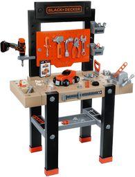 Smoby 360701 Dostęp do Black & Decker The Star'' ławka robocza i narzędzia dla dzieci Niesamowity kompletny stół warsztatowy z wiertłem mechanicznym, 7 narzędzi i 92 akcesoriów Wiek 3+