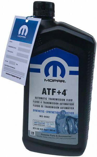 Olej automatycznej skrzyni biegów MOPAR ATF+4 MS-9602 0,946l Jeep