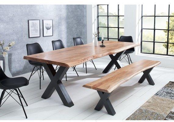 Stół drewniany Tatum X 240cm akacja 60mm miodowy Invicta