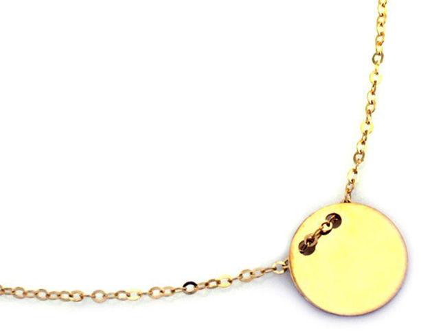 Złoty naszyjnik 585 łańcuszek celebrytka kółeczko 1,30 g