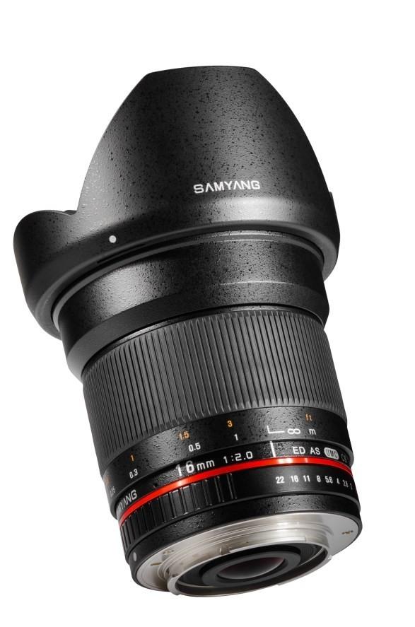 Samyang 16mm F2.0 ED AS UMC CS - obiektyw do Sony E Samyang 16mm F2.0 ED AS UMC CS