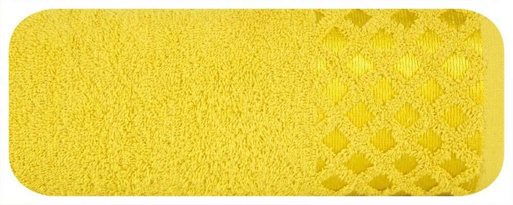Ręcznik Nela 50x90 musztardowy 460g/m2 Eurofirany