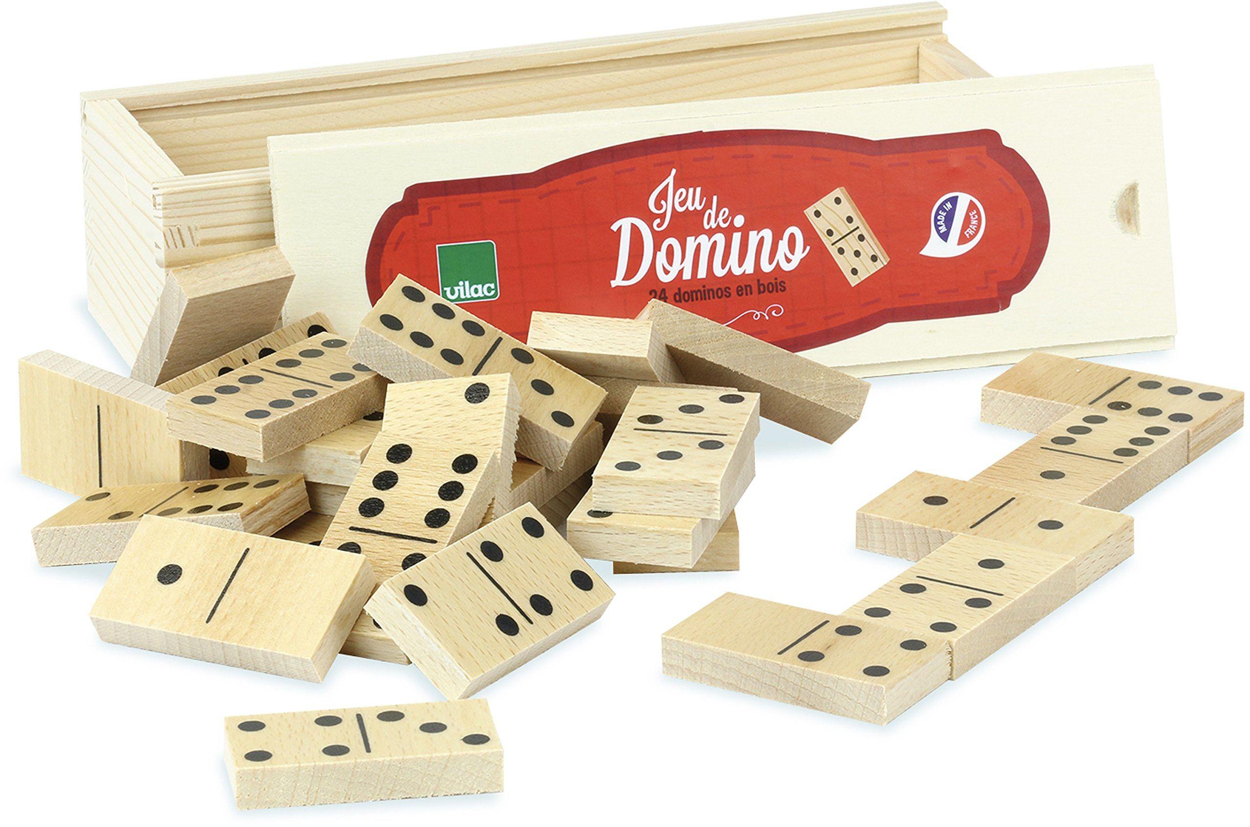 Vilac 6058 Domino Game, wielokolorowa