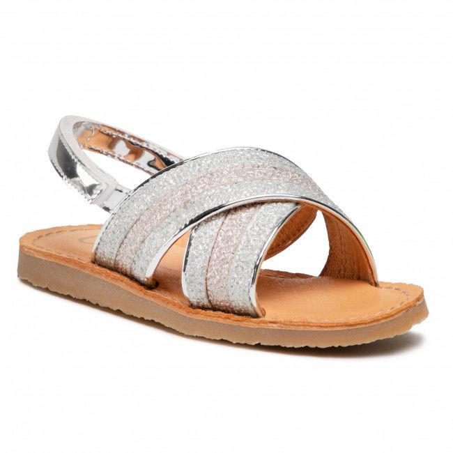 Sandały UNISA - Goleta Bon M Silve/Rosa