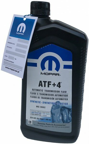 Olej automatycznej skrzyni biegów MOPAR ATF+4 MS-9602 0,946l Dodge