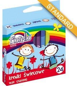 Kredki świecowe FIORELLO 24 kolory -170-1386-