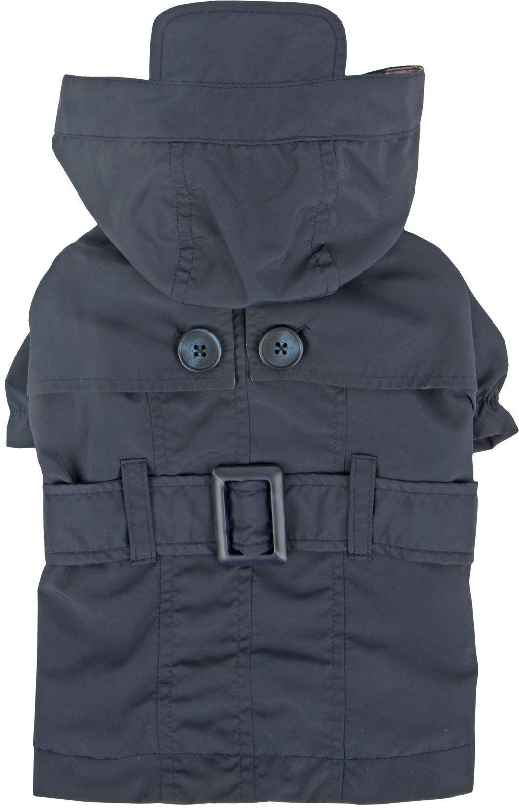Pinkaholic New York NARA-RM7321-NY-L granatowy płaszcz przeciwdeszczowy Claris sierści płaszcz przeciwdeszczowy, duży