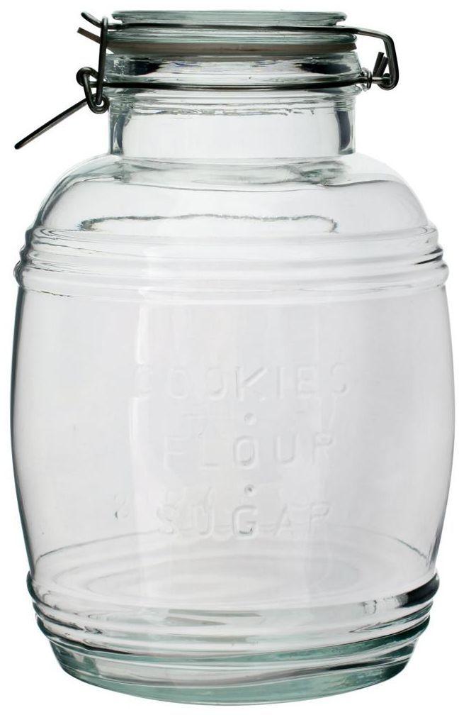 Słój szklany beczkowy 3 l z hermetycznym zamknięciem BIOWIN