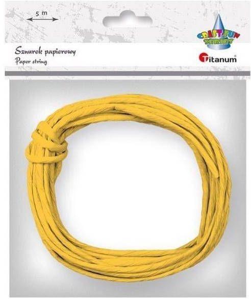 Sznurek papierowy 3.5mmx5m żółty - Titanum