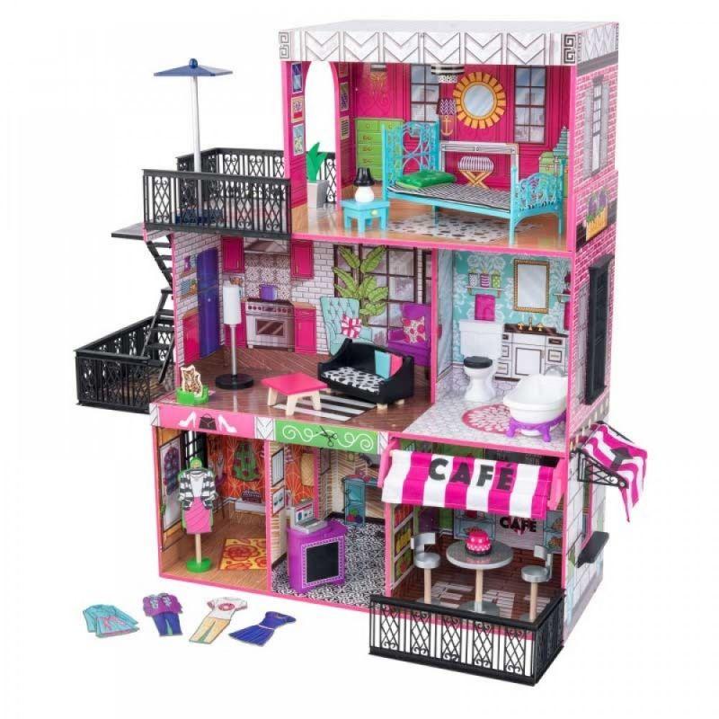KidKraft Drewniany domek dla lalek loft Brooklyn LK