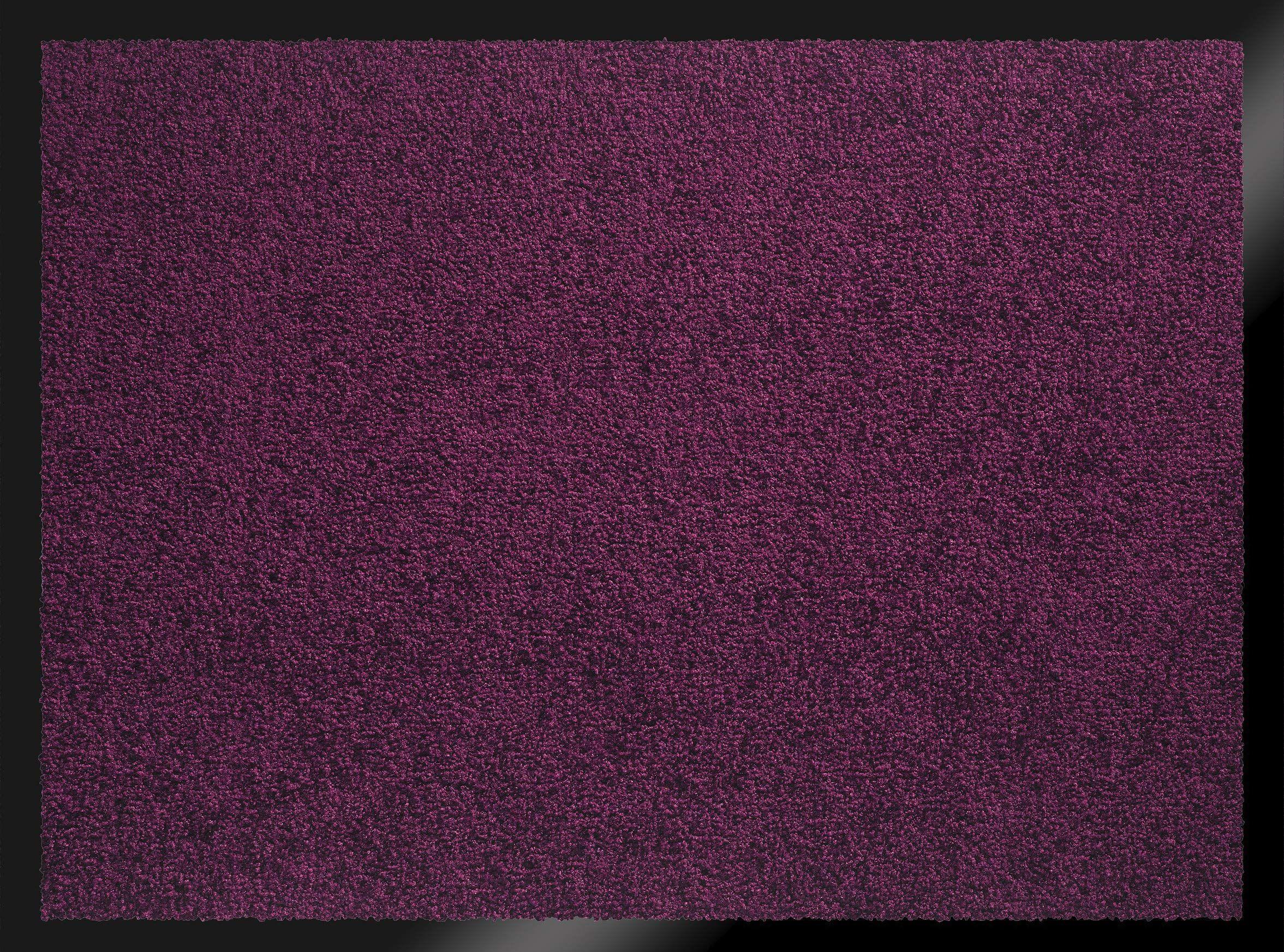 ID mat t 608013 Mirande dywan wycieraczka włókno nylon/PCW gumowany śliwka 80 x 60 x 0,9 cm