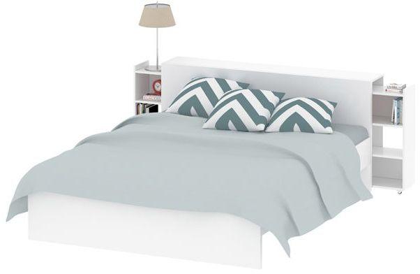 Łóżko naia 160x200 cm biały połysk