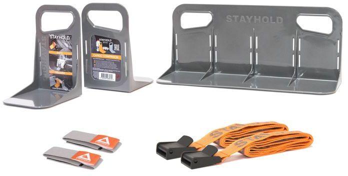 Zestaw STAYHOLD Super Pack szary, organizer do bagażnika, zestaw
