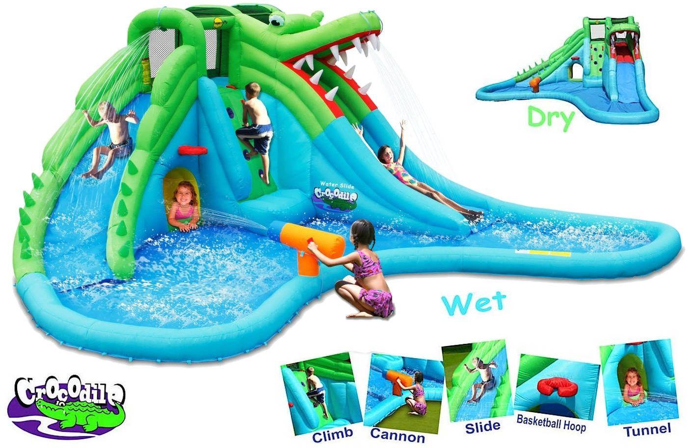 Dmuchana zjeżdżalnia wodna Happy Hop - Coccodrillo