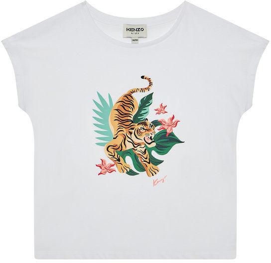 Kenzo Kids T-Shirt K15099 S Biały Regular Fit