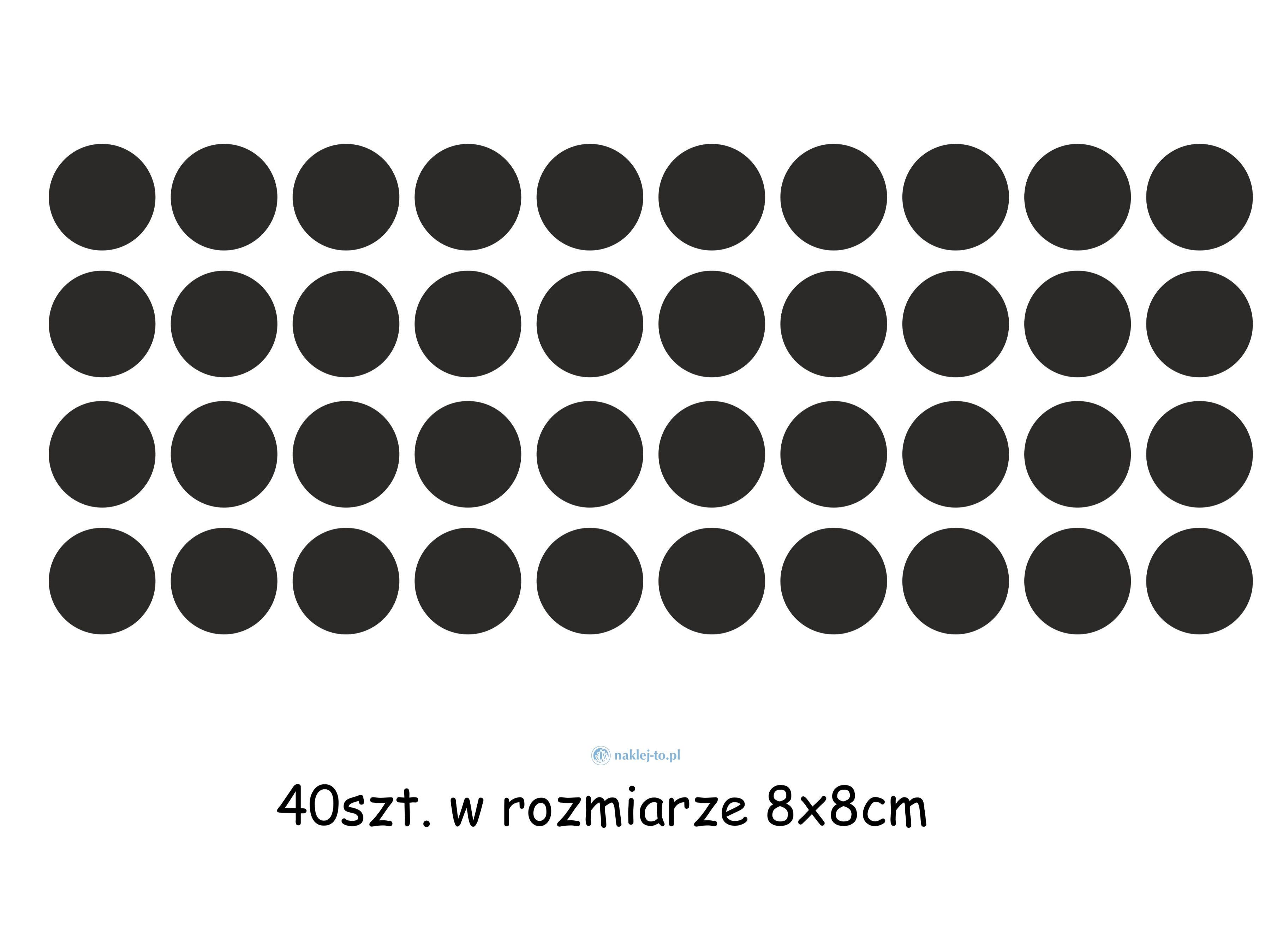 naklejki kropki 2 zestaw naklejka na ścianę zestaw