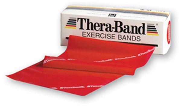 Średnia taśma rehabilitacyjna Thera Band o zwiększonej wytrzymałości (TB-czerwona)