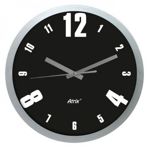 Zegar ścienny srebrny modern