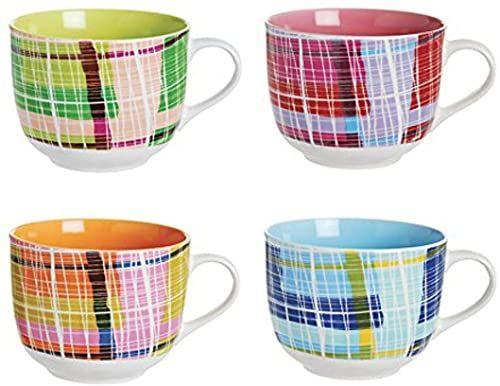 Excelsa patchwork Jumbo kubki ceramiczne, wielokolorowe, bez spodków, 1 sztuka