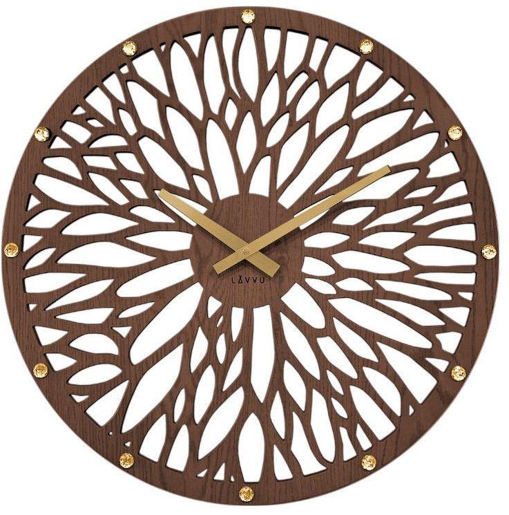 Zegar ścienny Lavvu LCT1180 z kryształkami, średnica 49 cm