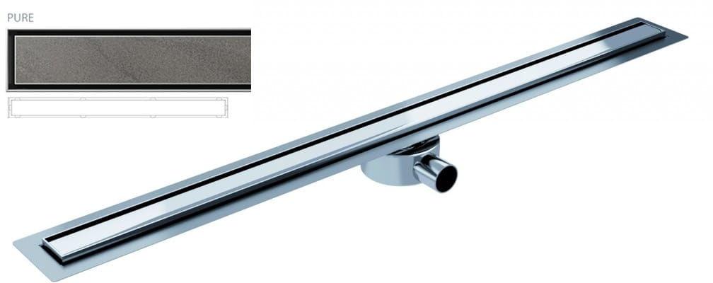 Wyprzedaż! Odpływ liniowy Wiper Elite Slim Pure 100 cm metalowy syfon EL1000PUW
