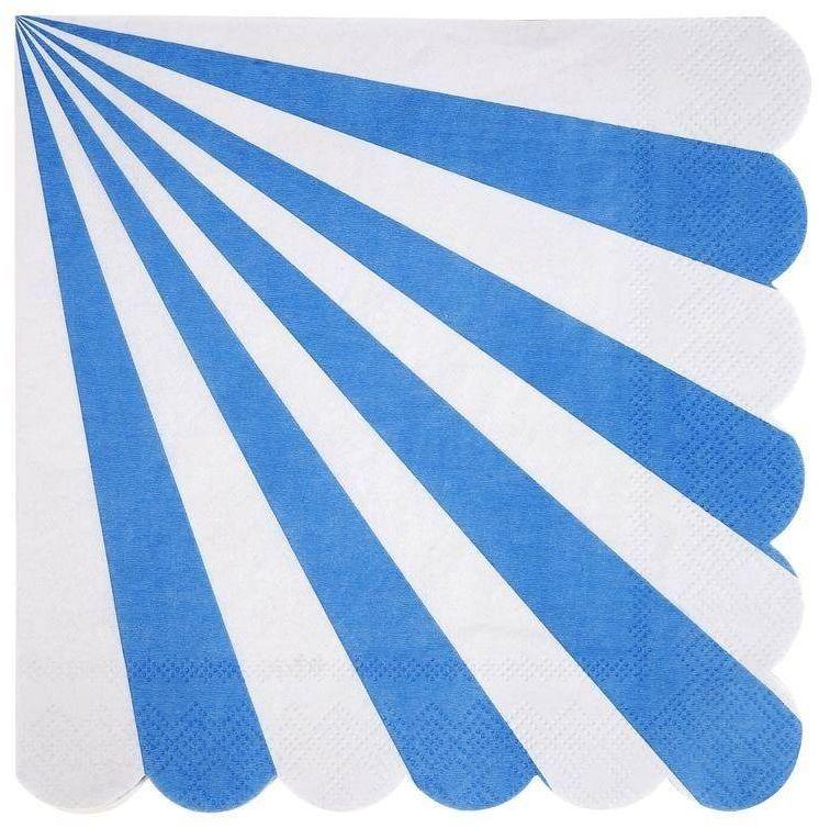 Serwetki paski niebieskie