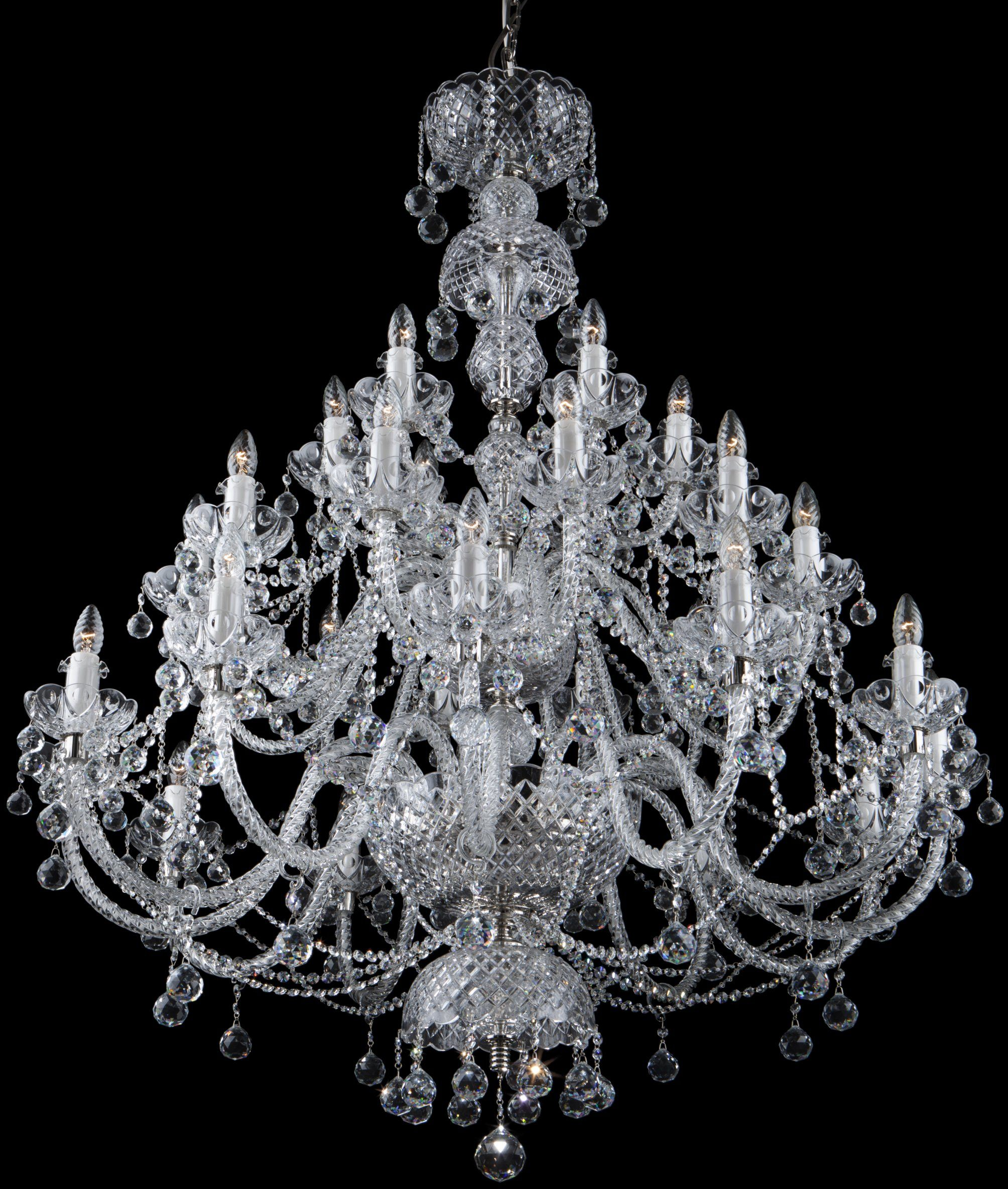 Żyrandol kryształowy pałacowy 30-ramienny - Elite Bohemia