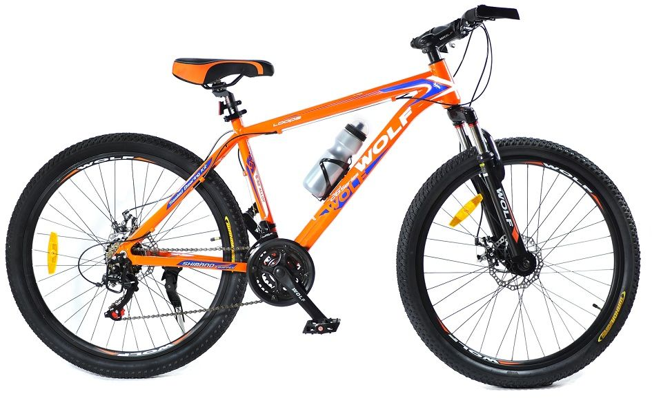 Rower Wolf Disc 26 R18,5 M Me 2021 pomarańczowy