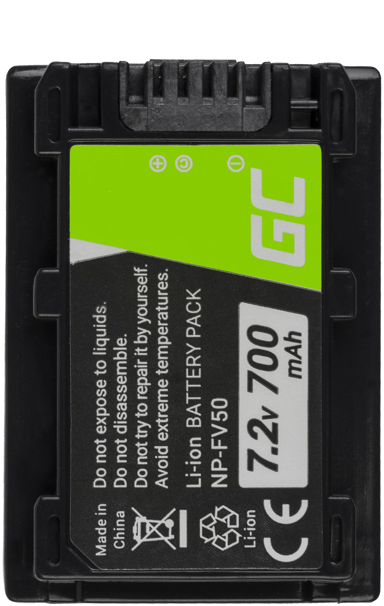 Bateria Green Cell  NP-FV50 / NP-FV100 do Sony DCR-DVD506E DCR-DVD510E HDR-CX116E HDR-CX130 HDR-CX155E HDR-UX9E 7.2V 700mAh