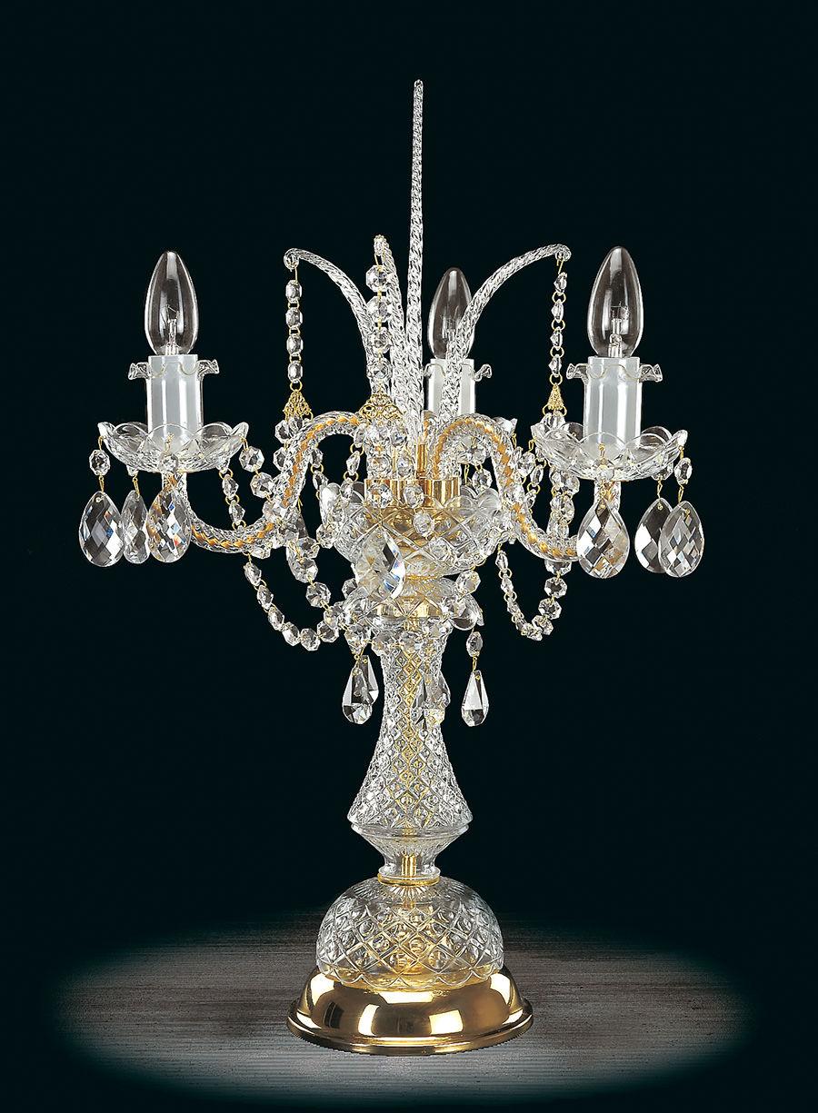 Lampa stołowa (biurkowa) z kryształkami