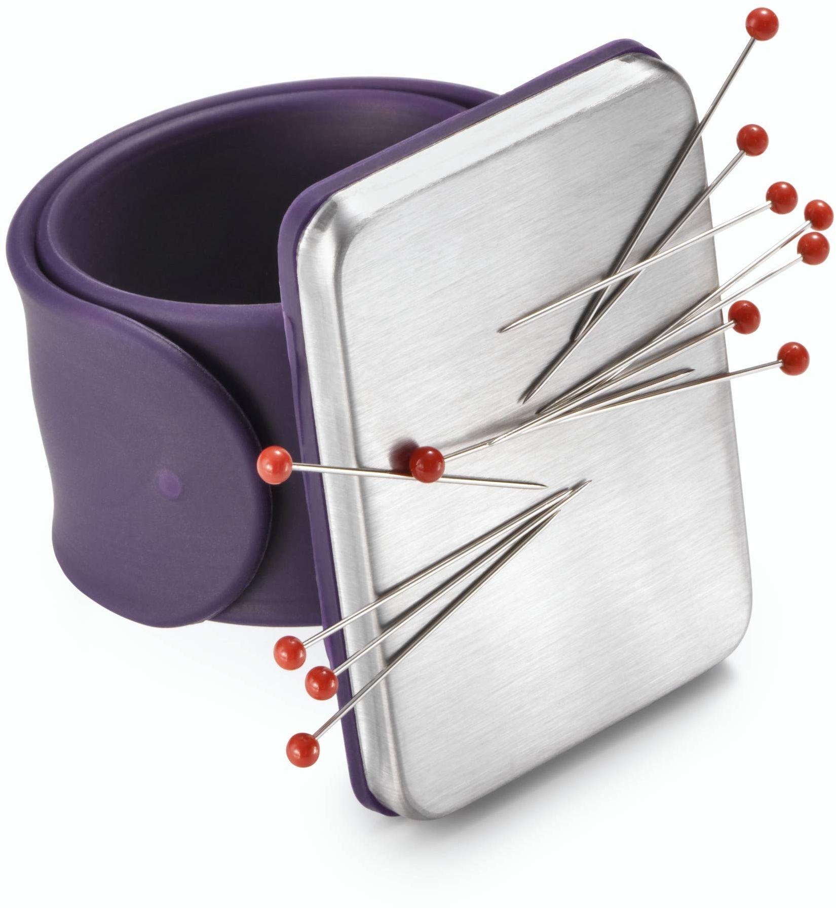 Prym 610282-1 poduszka na ramię magnetyczna ciemnofioletowa x 1, fioletowa, jeden rozmiar