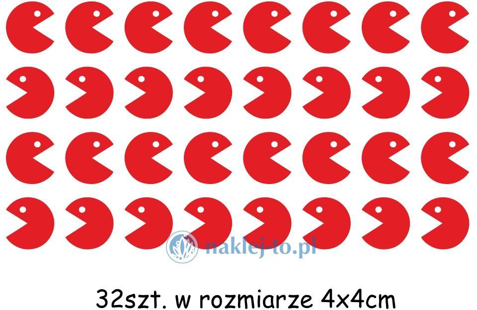 naklejka Pacman zestaw naklejka na ścianę zestaw