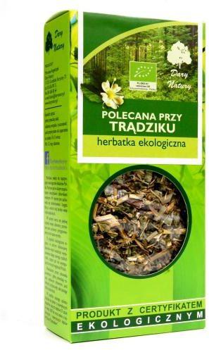 Herbatka polecana PRZY TRĄDZIKU BIO 50 g Dary Natury