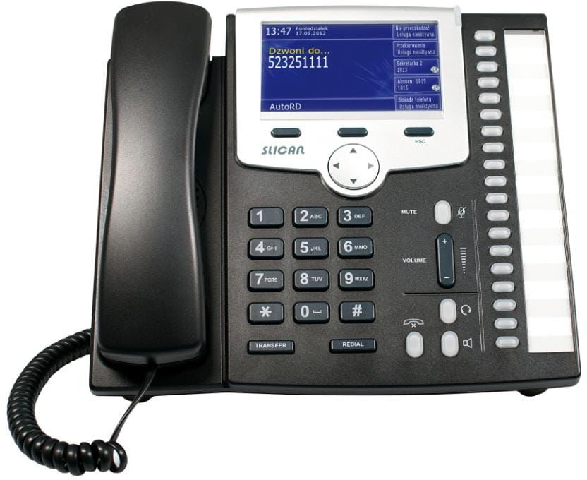Slican CTS-330.IP-BK telefon systemowy IP VoIP do central IPL-256 i IPM-032