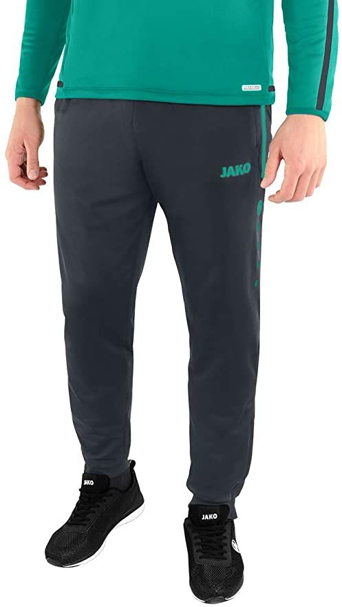 Jako Competition 2.0 męskie spodnie poliestrowe, antracyt/turkusowy, XL
