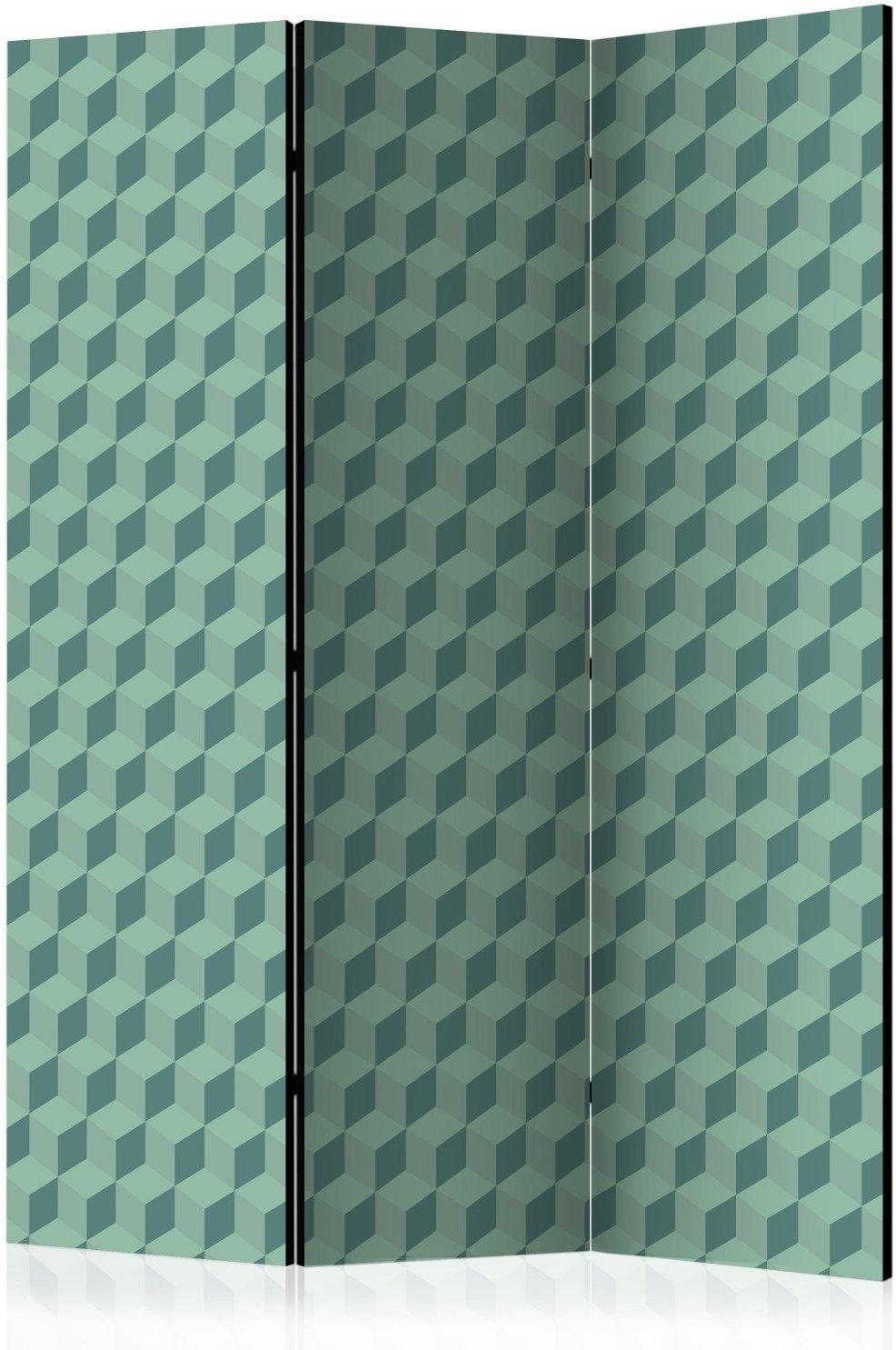 Parawan 3-częściowy - monochromatyczne kostki [room dividers]