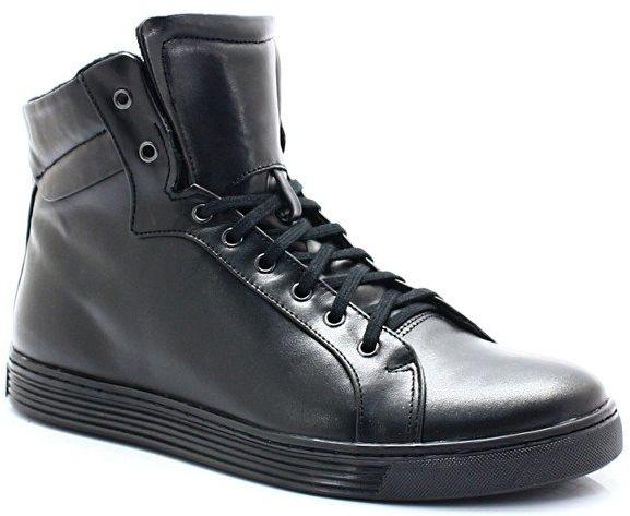 KENT 306S CZARNE - Wysokie buty ze skóry - Czarny