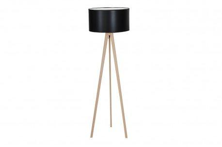Lampa podłogowa Tripod Wood AZ3013 + AZ2968 AZzardo nowoczesna oprawa z kolorze czarnym