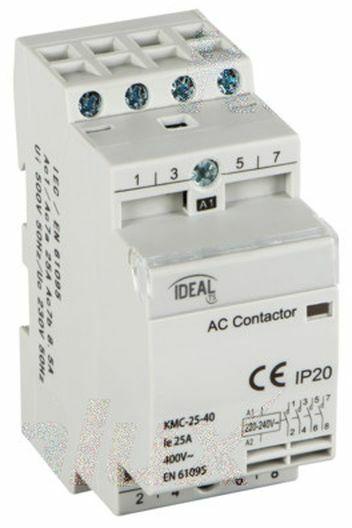Stycznik modułowy 25A 4Z 0R 230V AC KMC-25-40 23252