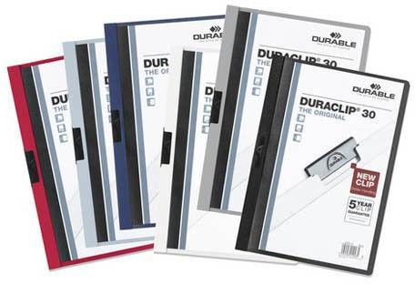 Skoroszyt zaciskowy DURACLIP 30 antracytowy /2200 57/