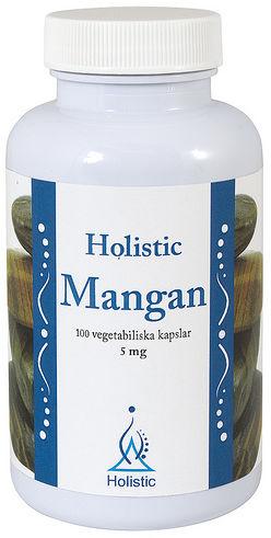 Mangan biodostępny 5mg Holistic L-asparaginian manganu, cytrynian manganu 100 kaps