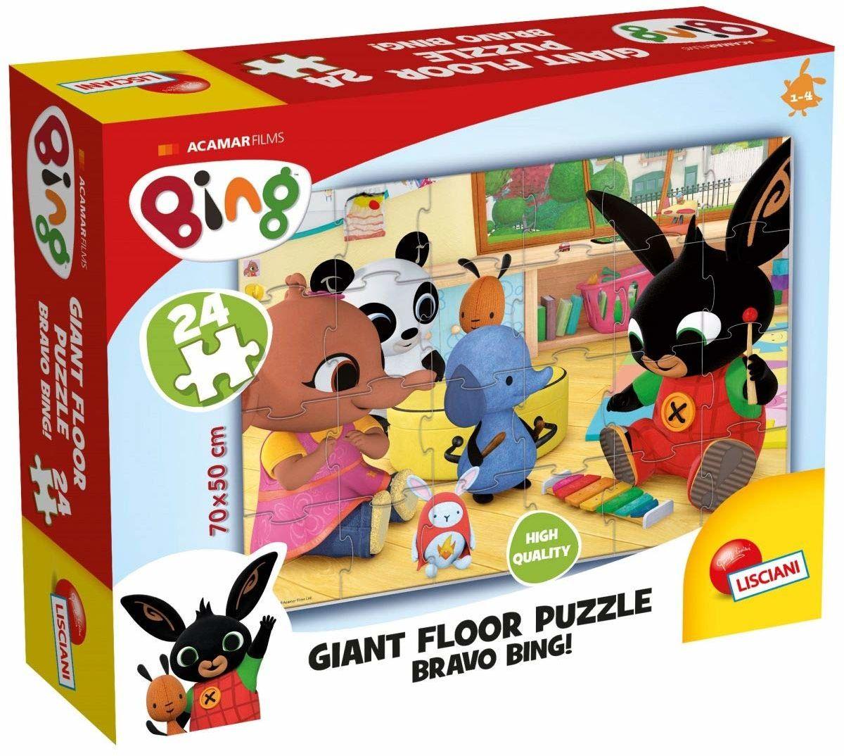 Lisciani Giochi, 75805, Bing Giant Floor 24 Bravo Bing, olbrzymi puzzle podłogowe