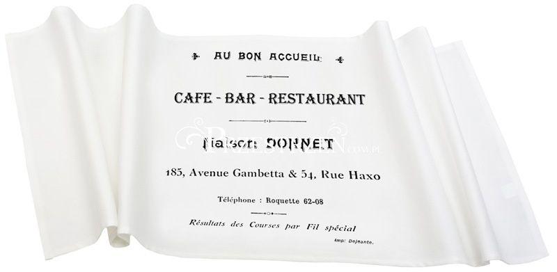 BIEŻNIK OZDOBNY FRENCH HOME - CAFE BAR BIAŁY