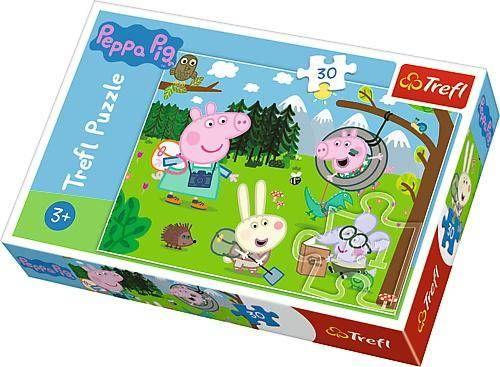 Puzzle 30 Świnka Peppa Leśna wyprawa TREFL