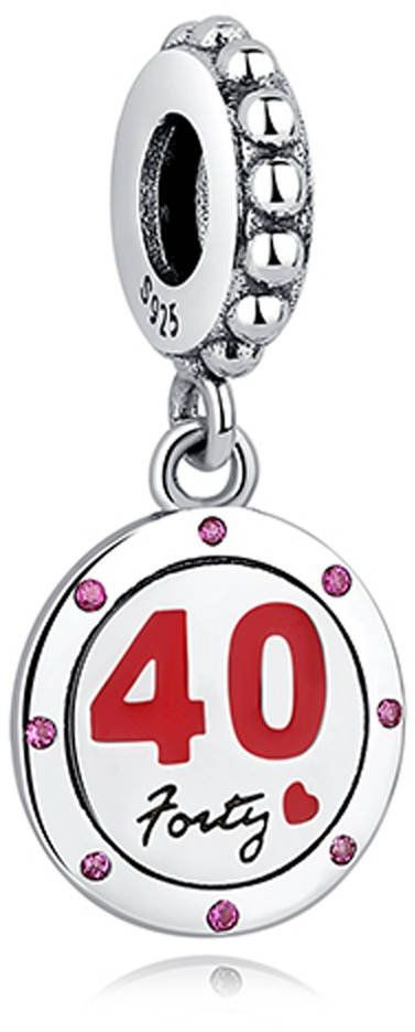 Srebrna Zawieszka Przywieszka 40 Urodziny