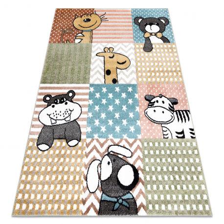 Dywan FUN Pets dla dzieci, zwierzęta multi kolorowy 80x150 cm