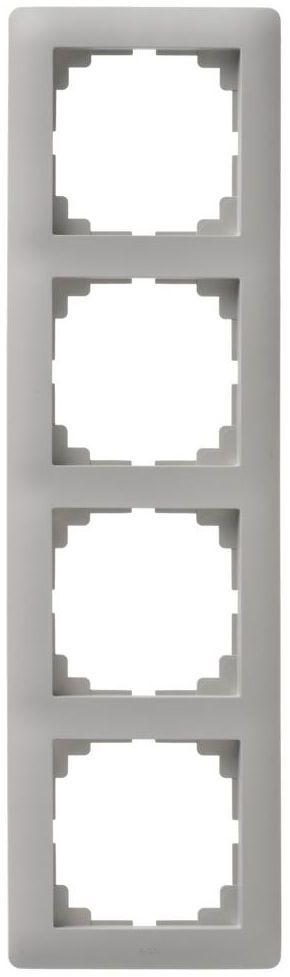 Ramka poczwórna ASTORIA szary ELEKTRO-PLAST