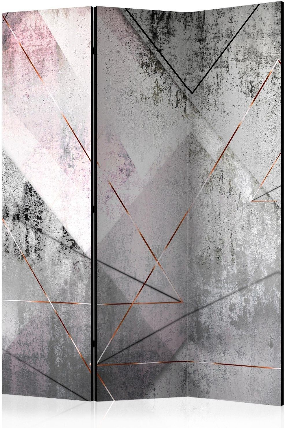 Parawan 3-częściowy - trojkątna perspektywa [room dividers]